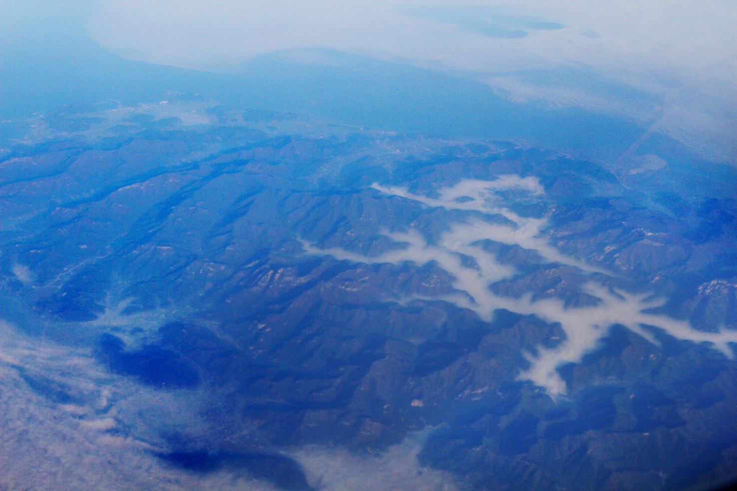 """行摄韩国-航拍""""中国龙""""-首尔-济州岛上空.2014年4月14"""