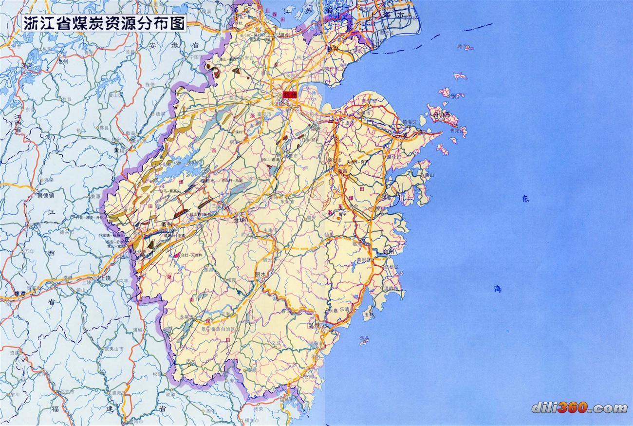[分省图]中国煤炭资源分布图