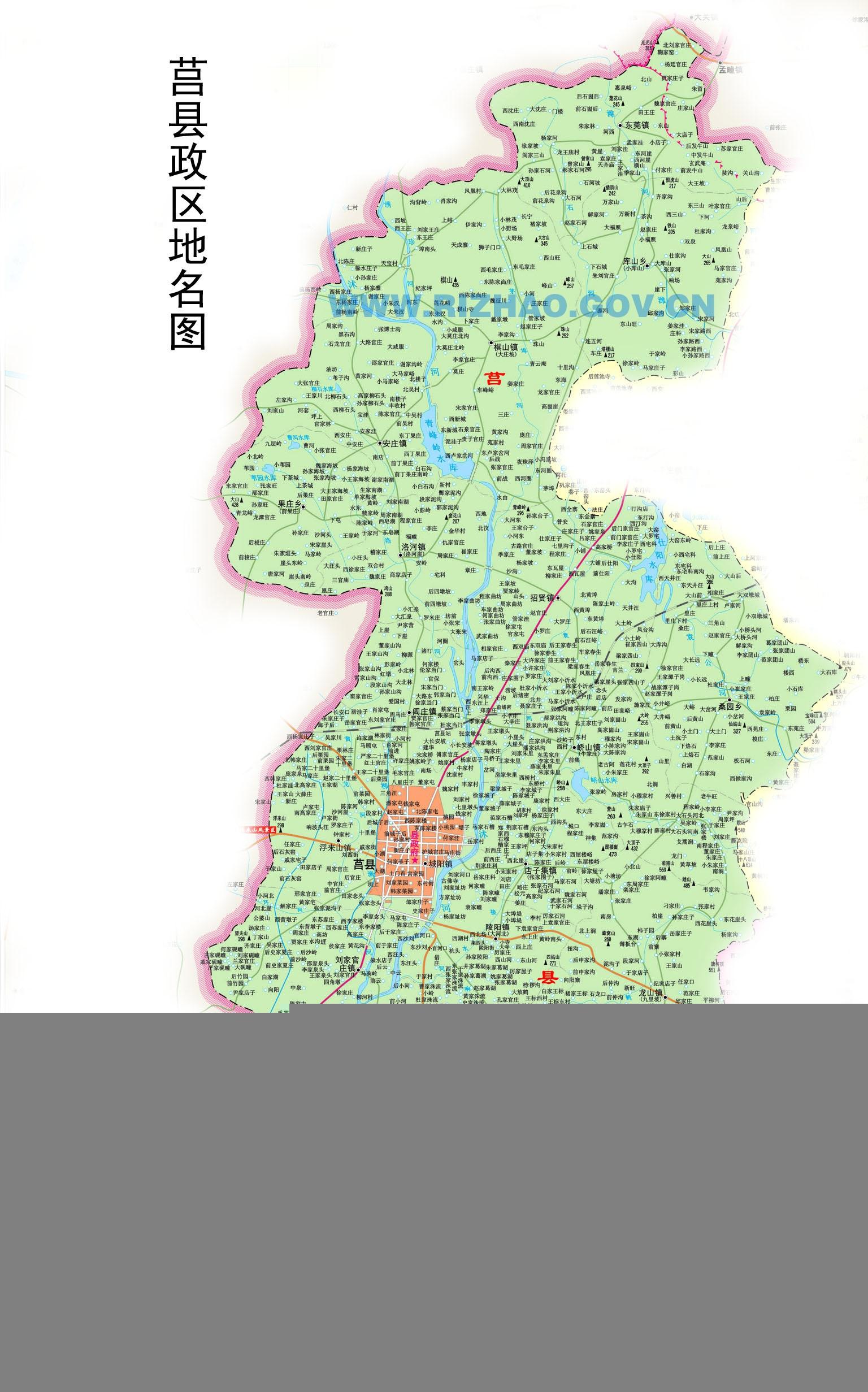 山东省日照市政区图-日照市政区图-地图专区-地图