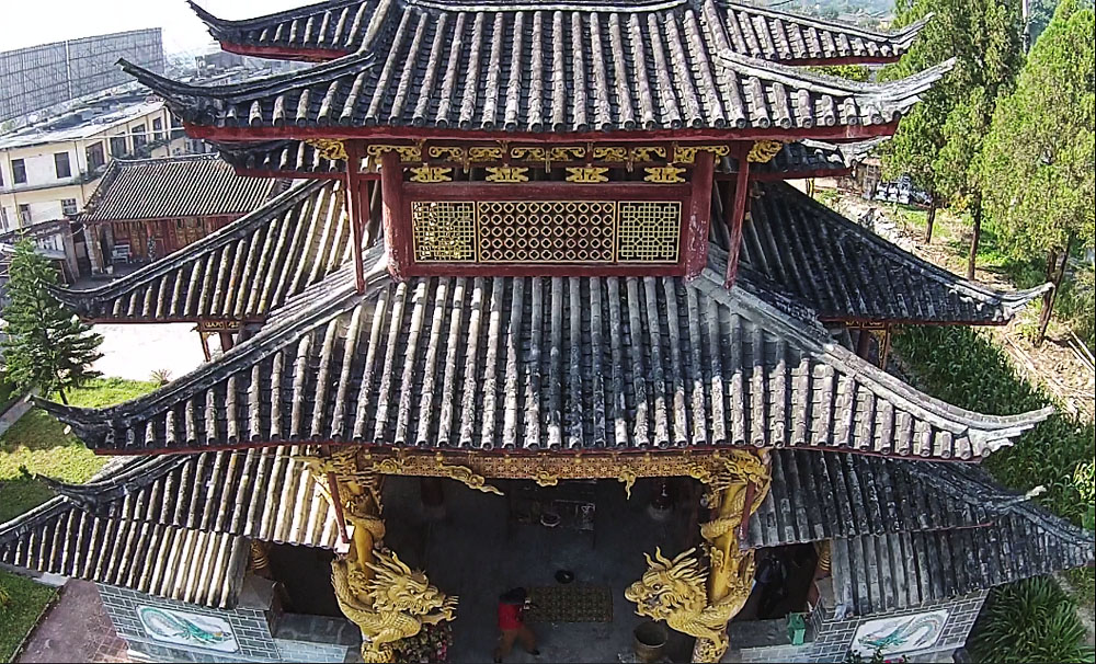 二层傣族餐厅房钢结构效果图