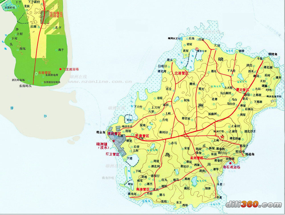 硇洲岛地图