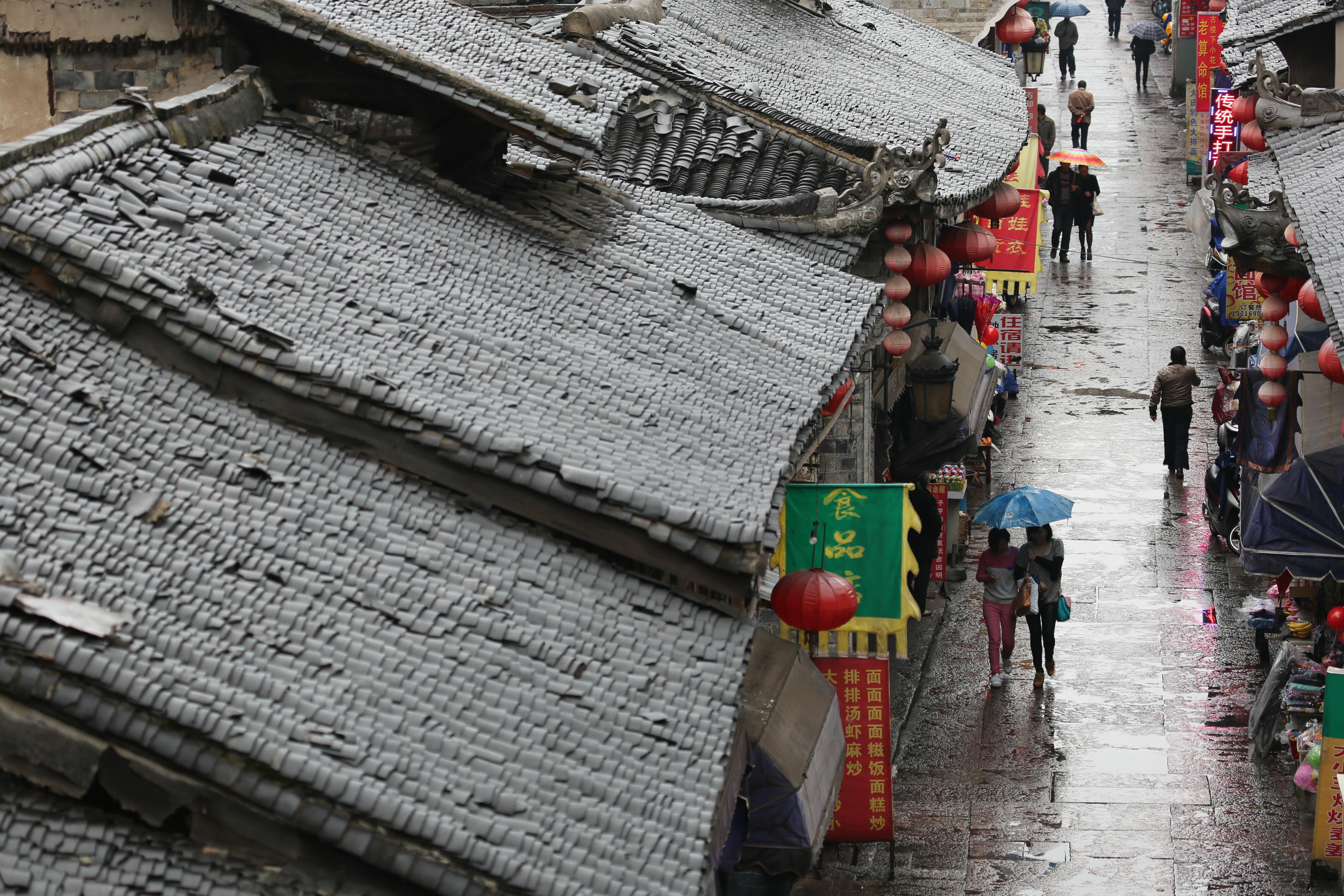 古街雨景 2014摄影月赛图片