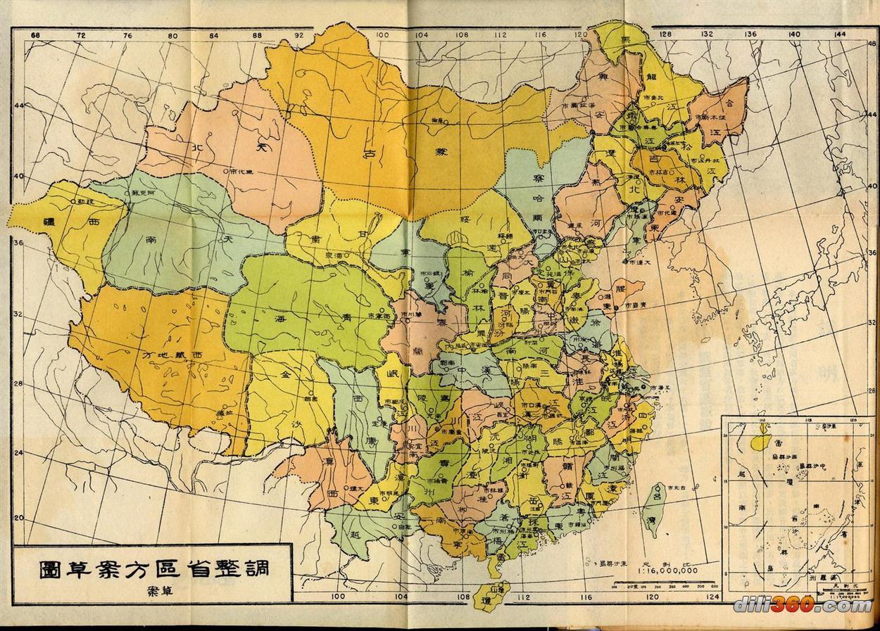 酉阳县行政地图