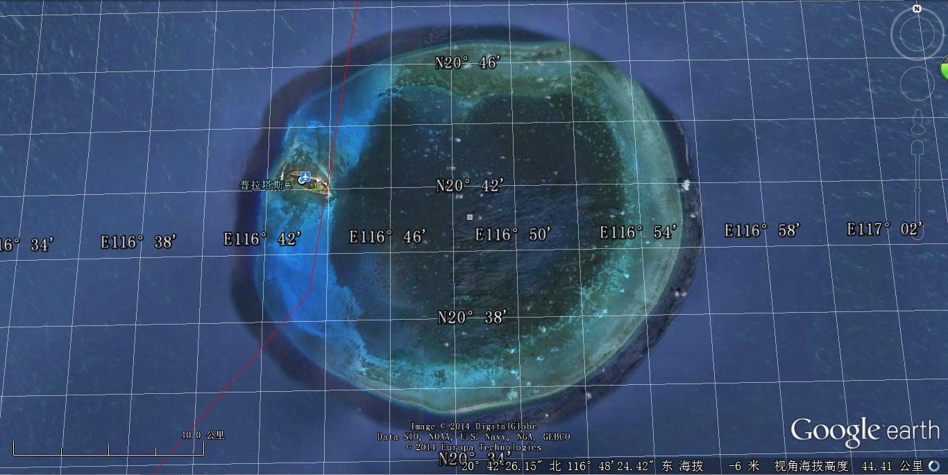 东沙岛地图展示