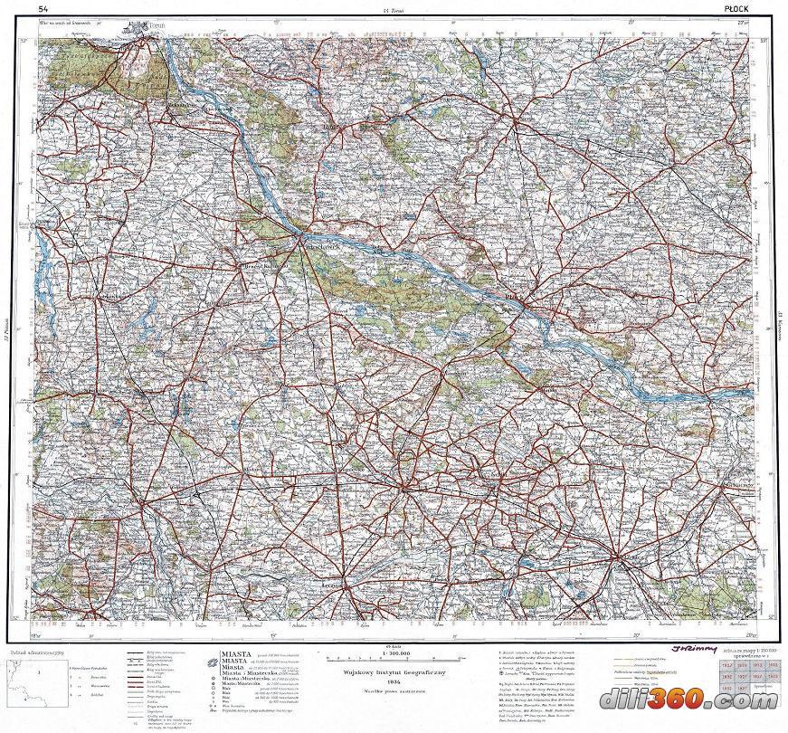 德军与波兰军用地图(希特勒