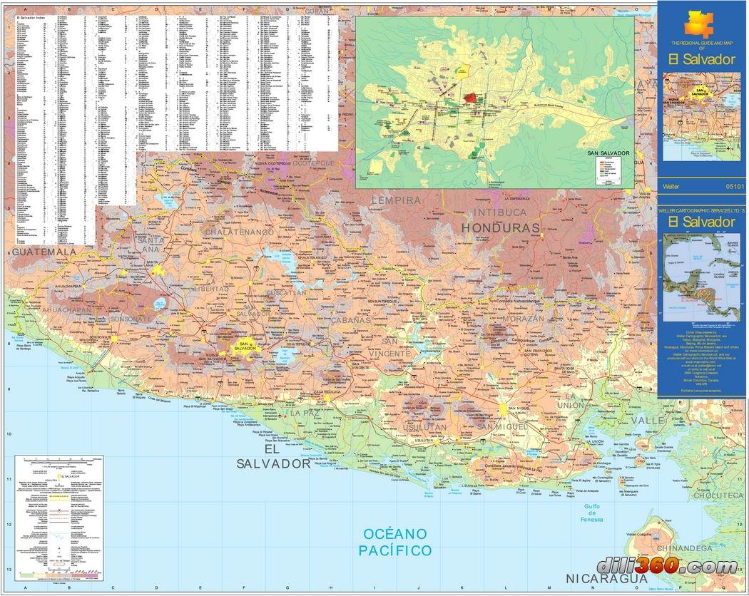 中美地峡诸国地图合辑