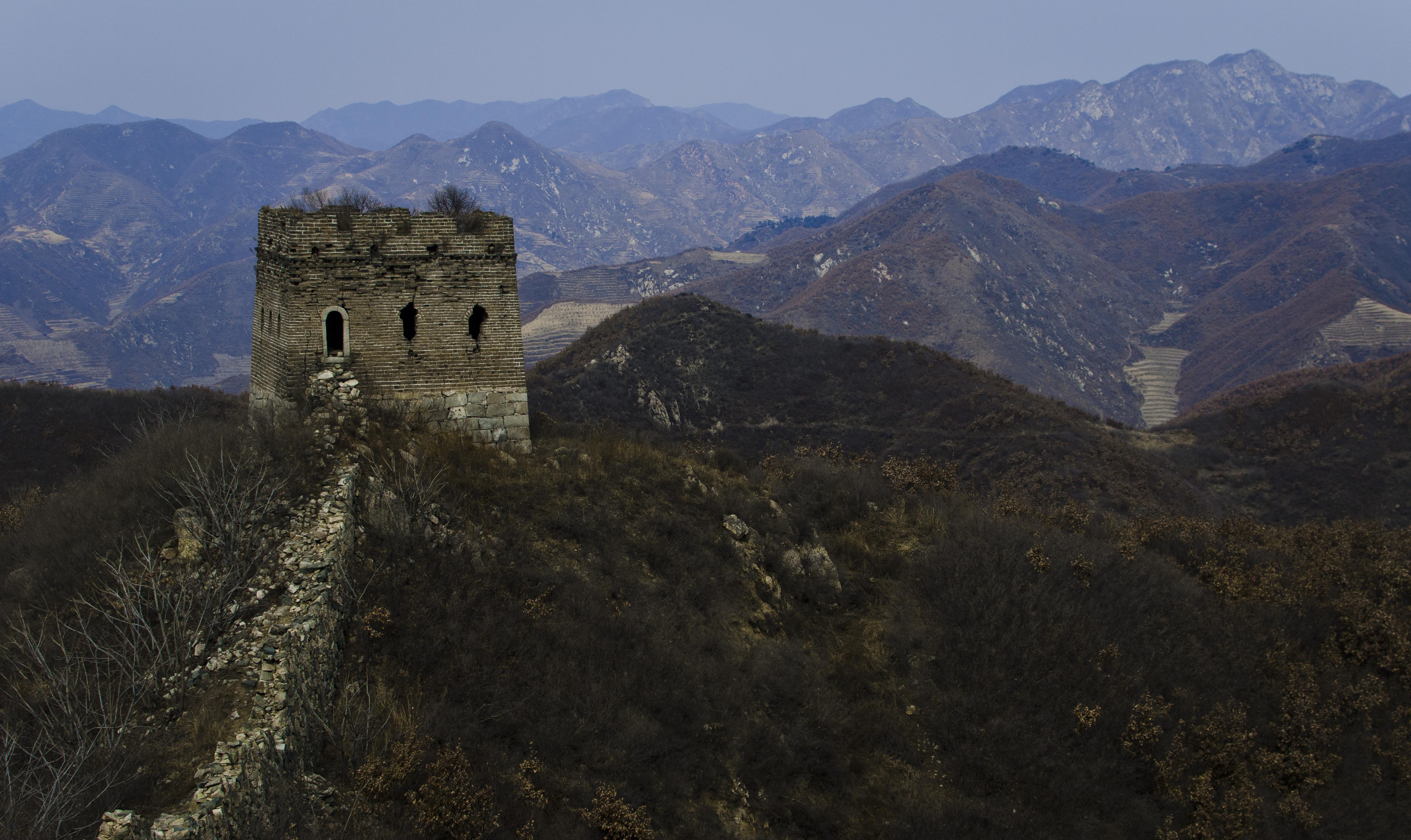 秦皇岛抚宁,箭杆岭一带的长城冬景.