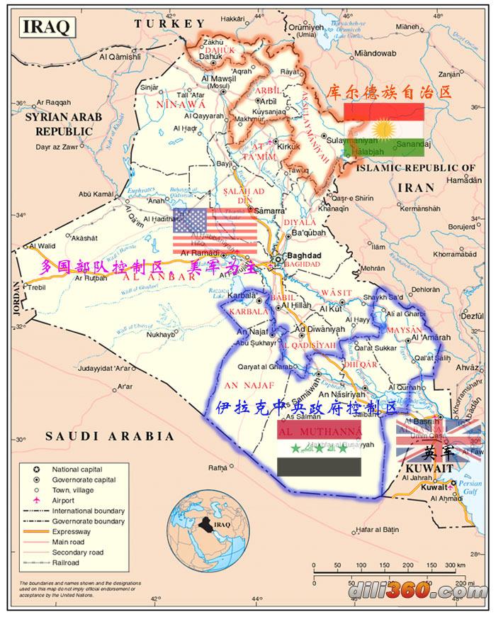伊拉克战况地图图片