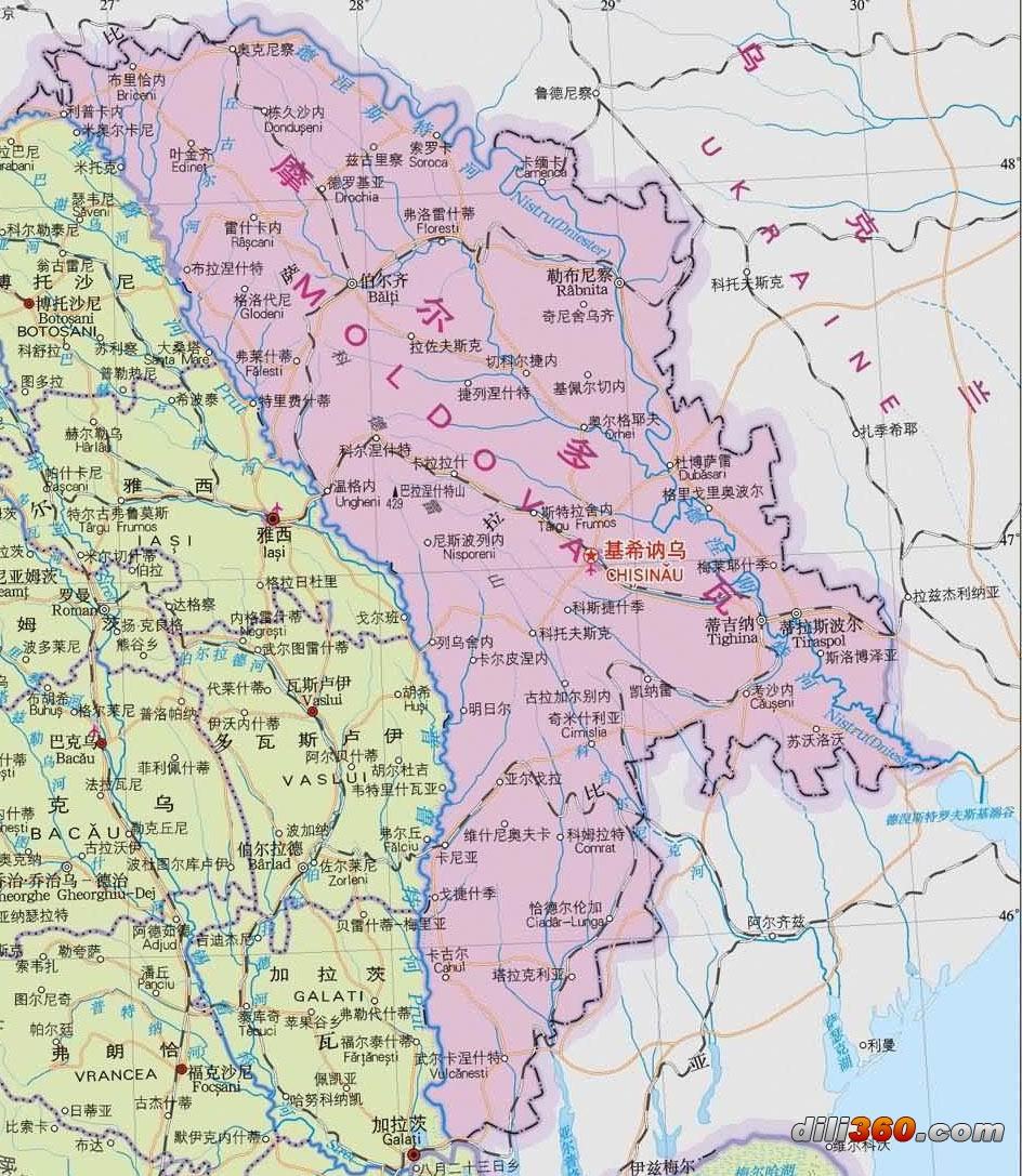 欧洲各国中文地图