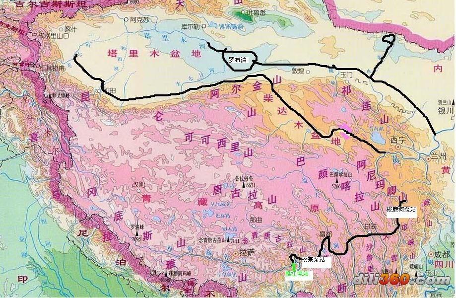 尤其是塔里木盆地北西南三面环绕着高耸达4000-6000