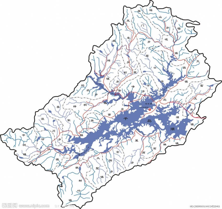 千岛湖旅游地图-千岛湖旅游地图淳安县地形图淳安县