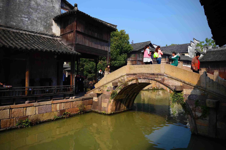 乡村风景水粉画图片 小桥流水水粉写生作品 5 水彩